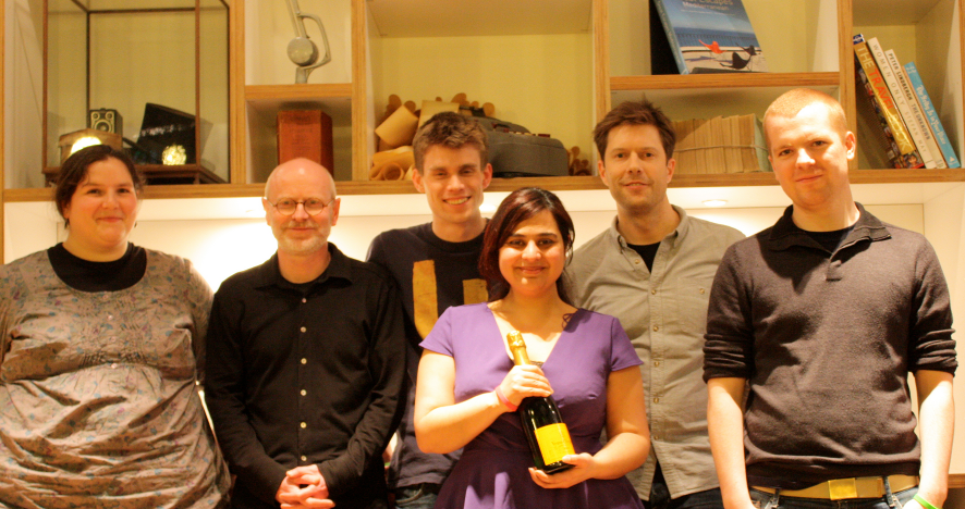 The team behind the Grand Prize Winner Shakey App.