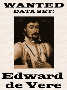 """Wanted Poster based on """"Edward Vere, Earl of Oxford"""" by Flickr user lisby1 / Lisby"""